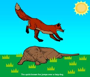 A cartoon image showing an action described as...