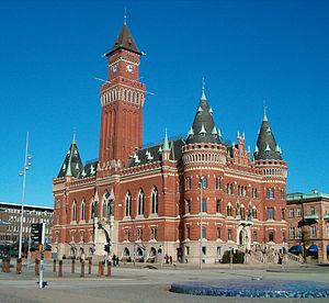 Rådhuset sett från Kungstorget.