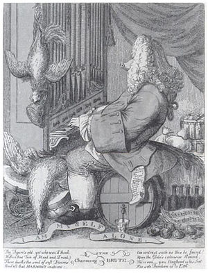 Caricature of Handel by Joseph Goupy (1754)