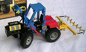 Early example of Lego Technic.