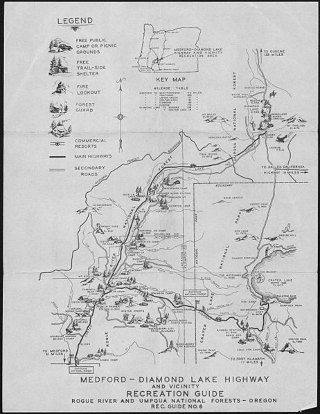 File:Medford-Diamond Lake Highway Recreation Guide, Rogue