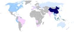 Bản đồ phân bố Tiếng Hoa