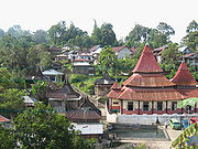 The kampong of Pariangan, West Sumatra.