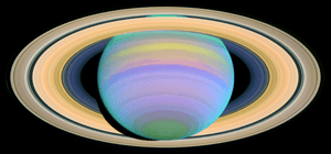 English: Saturn's Rings in Ultraviolet Light F...