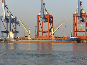 English: The general cargo ship Molene at the ...