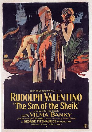 English: Son of the Sheik (1926) film poster.