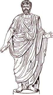 Un hombre con una toga