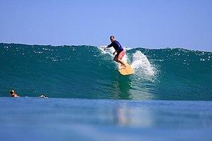 WAIANAE, Hawaii - A surfer with the Hawaii Mil...