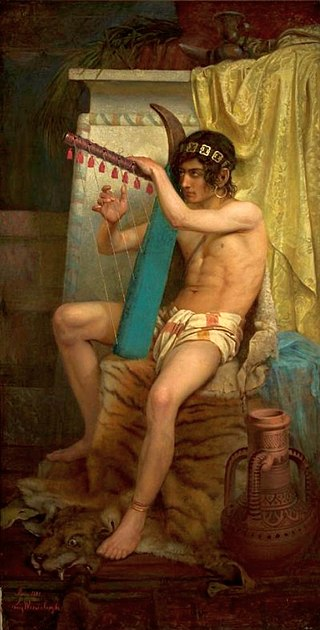 Wiesiołowski David playing the harp.jpg