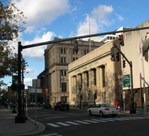 A typical street scene in Bridgeport