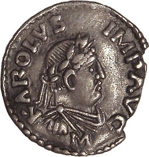 Charlemagne denier Mayence 812 814. Français :...