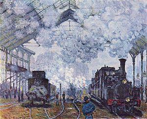 Claude Monet: Gare Saint Lazare, 1877