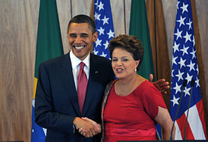 Português: O presidente dos Estados Unidos, Ba...