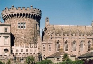 Dublin Castle was the fortified seat of Britis...