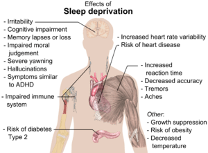 Main health effects of sleep deprivation (See ...