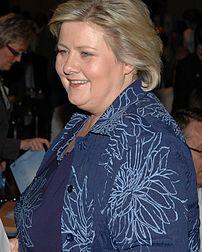 {{nb  Erna Solberg, Høyres leder og tidligere ...