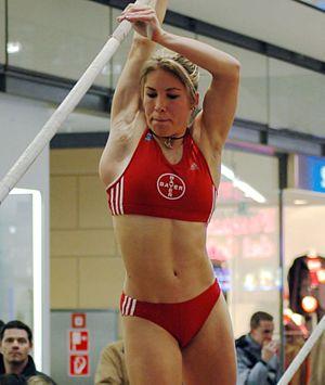 Floé Kühnert, German pole vaulter, at a pole v...