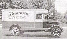 Frisbie's Pie Truck 1920s