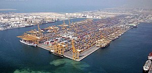 Port of Dubai Emirate, located on Jebel Ali di...