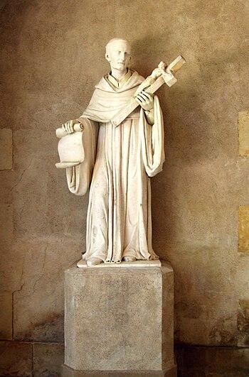 Français : Statue de Bernard de Clairvaux, Mai...