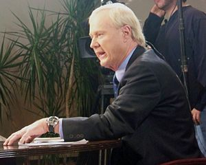 Chris Matthews during an edition of Hardball i...