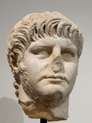 Portrait of Nero. Marble, Roman artwork, 1st c...