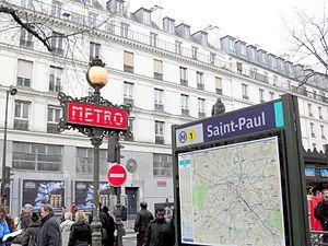 English: Saint-Paul (Paris Métro). Français : ...