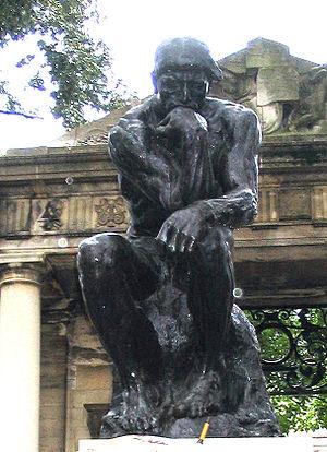 Auguste Rodin. «Thinker», Philadelphia museum