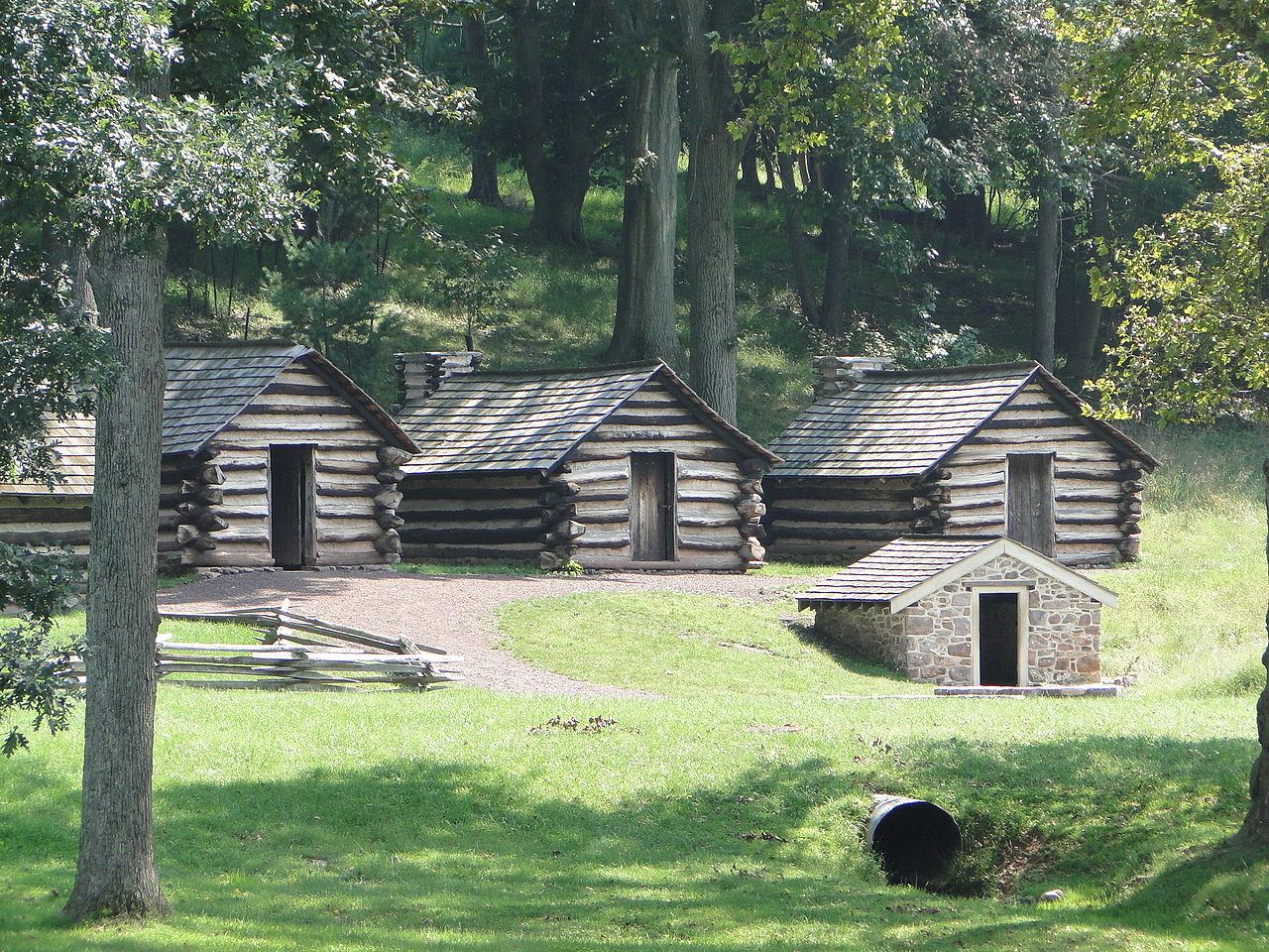 Fb Wallpaper Hd File Valley Forge National Historical Park Log Cabins Jpg