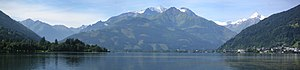Panorama of Zell am See from the other end of ...