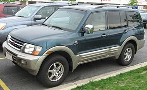 2001-2002 Mitsubishi Montero photographed in USA.