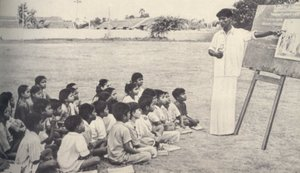 English: A catechism lesson in a Madras Presid...