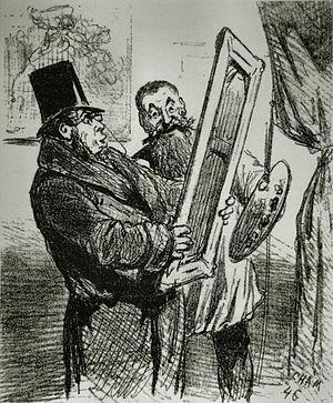 Français : Caricature des peintres impressionn...