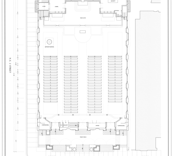 Filechurch Floor Plan Gesu Catholic Church  Northeast Second Street Miami Miami Dade County Fl Habs Fl  Of  Png