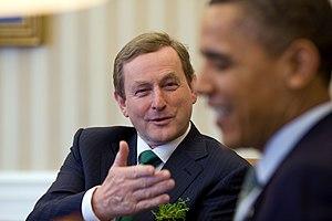 English: Taoiseach Enda Kenny with US Presiden...