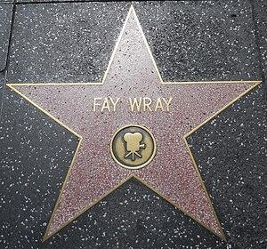 English: Fay Wray's star on the Hollywood Walk...