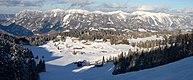 SSW-Seite des Sengsengebirges vom Skigebiet Hinterstoder