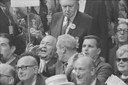"Image result for 1971 – J. Edgar Hoover & John Mitchell announce the arrest of 20 of the Camden 28, a group of ""Catholic left"""