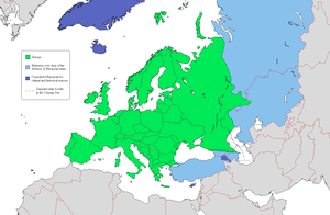 Europe according to a widely accepted definiti...
