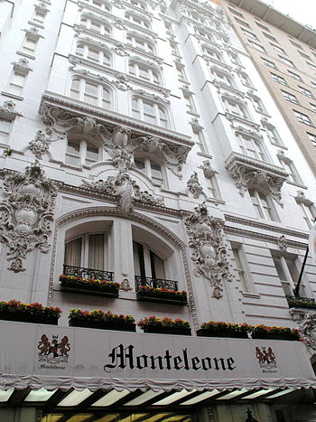 Hotel Monteleone, New Orleans. Exterior fascad...