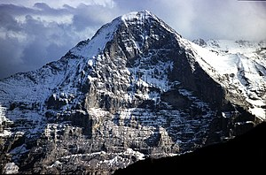 English: Eiger north face