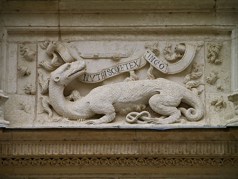 Nutrisco et extinguo Salamandre de François I Azay