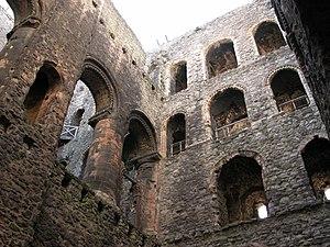 Interior view of Rochester Castle