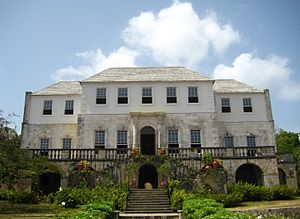 English: Rose Hall, the estate house of a form...