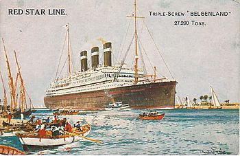 Postcard of SS Belgenland (1914)
