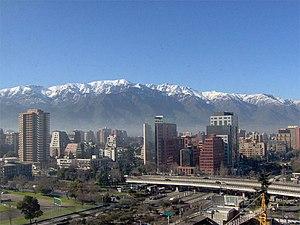 English: Photo from the modern Santiago de Chi...