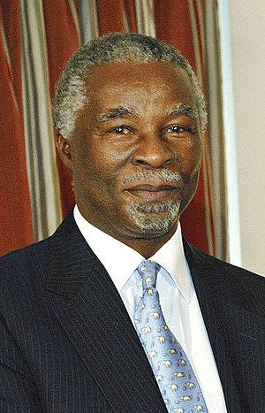 Português: O presidente da África do Sul Thabo...