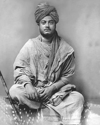English: Photo of Swami Vivekananda at Jaipur ...