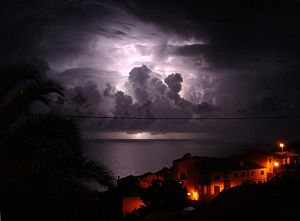 Thunderstorm, captured from Garajau (Madeira, ...