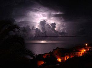 Thunderstorm, captured from Garajau (Madeira, ...